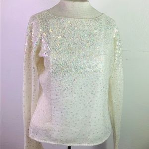 Laundry by Shelli Segal: Knit Sweater With Sequins